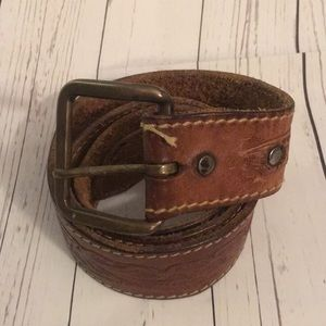 Accessories - Leather brown belt
